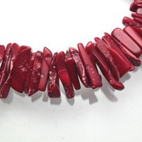 Red Bamboo Coral Long Chip Light Accents CR126