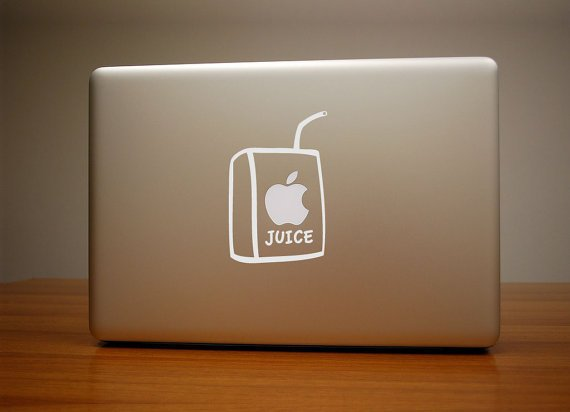 Apple Juice Macbook Decal & iPad Decal
