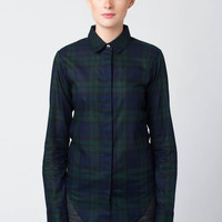 Classic Button Down Black Watch Plaid