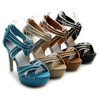NEW Womens Shoes Platforms High Heels Pumps Silver Accent Multi Colored Sandals