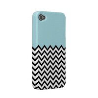 Light Blue Colour Block Chevron iPhone 4 Case from Zazzle.com