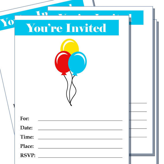 Watch more like Blank Birthday Invitations To Print – Blank Party Invitations