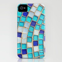 Blue Tiles - an abstract photograph. iPhone Case by Amelia Kay Photography | Society6