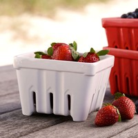 White Ceramic Berry Basket at Sur La Table