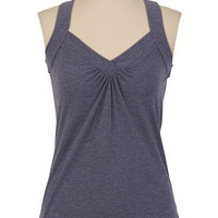 Cinch Back Heathered Tank