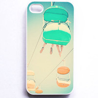 Iphone Case. &quot;Skyglider&quot;. Carnival. Pastel. White. Blue. yellow. Mint. Fun. Summer. Dreamy. Cute. Sky. Santa Cruz. Iphone 4 case. 4s case