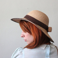 vintage 1970's straw hat by Thrush on Etsy