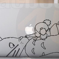 Totoro with girl Vinyl Decal sticker for MackBook 11'' 13'' 15'' 17'' or Ipad