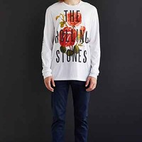 The Rolling Stones Floral Long-Sleeve Tee - Urban Outfitters