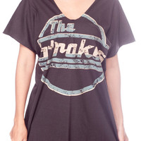 THE STROKES Off Shoulder Top Julian Casablancas Shirt Dress Women Tank Top Black Shirts Tunic Women T-Shirt Size M L