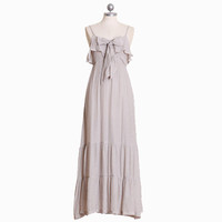 light-hearted laughter ruffle front maxi dress - &amp;#36;44.99 : ShopRuche.com, Vintage Inspired Clothing, Affordable Clothes, Eco friendly Fashion
