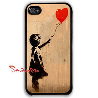 Banksy Balloon Girl iPhone 4 Case, iPhone 4s Case, iPhone 4 Hard Case, iPhone Case