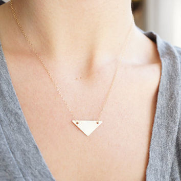 Geo Collection: Brushed Brass Triangle, from Made By Maru