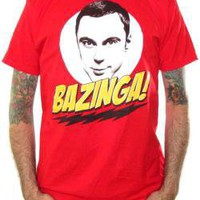 ROCKWORLDEAST - Big Bang Theory, T-Shirt, Bazinga Sheldon Head