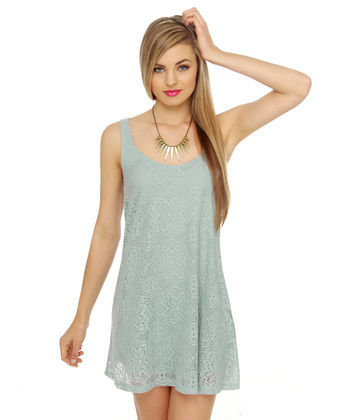 Lost Florence Lace Mint Blue Dress - $46.00 : Fashion Shop By Color at LuLus.com