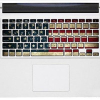USA Flag Keyboard  Decal --- Macbook Decals Macbook Stickers Vinyl decal for Apple Macbook Pro/Air