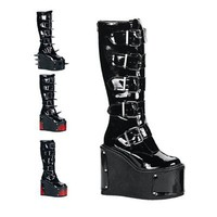Demonia TRANSFORMER-800 Gothic Platform Boots - Demonia Shoes