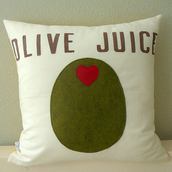 Olive Juice - Pillow Cover