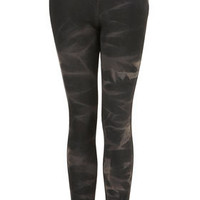 Black Tie Dye Denim Leggings