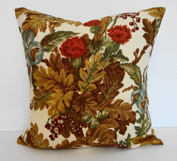 Decorative Pillows For Fall : Autumn Leaves Decorative Linen Throw from Pillows4fun Pillows I