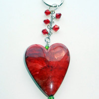 Heart  Key Chain with Swarovski Crystals