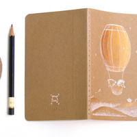 Dream Journal Moleskine Hedgehog Bear flying barrel