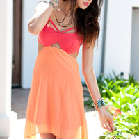 Urban 1972 :: What's New :: Selena Cut Out Dress-Orange