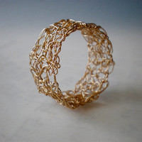 Crochet Gold Filled Ring on Luulla
