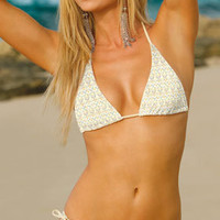 Swim Systems 2012: Crystal Separates Swimwear Triangle Top E641, Tie Side Bottom E211