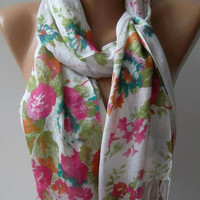 Shawl for Summer  // Elegance Shawl / Scarf / soft and light...,