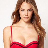 Huit Lucky Underwired Bandeau Bikini Top at asos.com