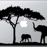 Elephant Safari Macbook Sticker / Decal