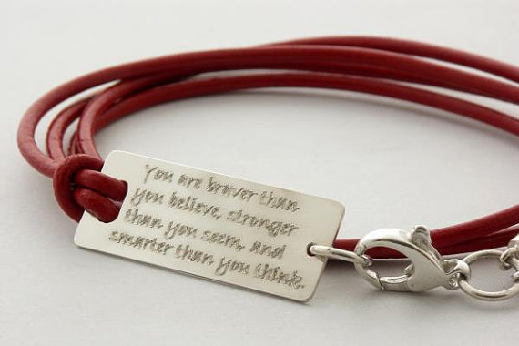 you are braver than you believe from nowayout on etsy
