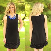 Rimmed With Rosettes Dress