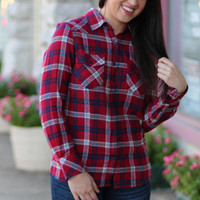 Mad for Plaid Flannel {Red}