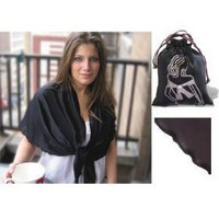 Chilly Jilly Wraps, Black Wrap with Black Trim