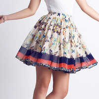 romantic butterfly chiffon mini skirts (0075)