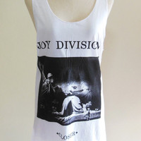 Joy Division Closer Album Vintage Rock Punk Pop -- Shirt Women Tank Top Vest Tunic Top Sleeveless Music Shirt Black T-Shirt Size S , M