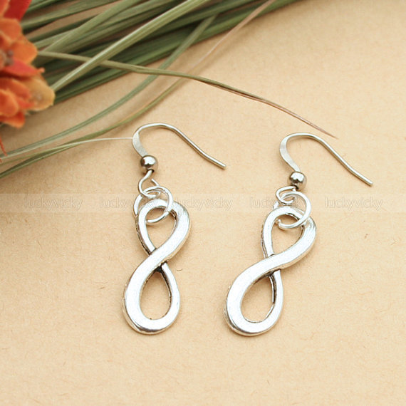 Karma earrings-vintage karma earrings-infinity earrings for girls