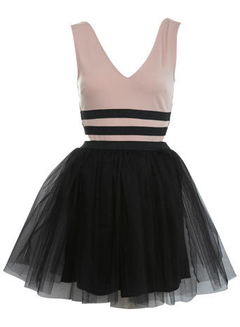 Petites Two Tone Prom Dress - Dresses  - Apparel  - Miss Selfridge US
