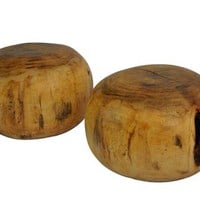 Rotsen Furniture - Rotsen Furniture Mango Wood Poufs Stools / Side Tables