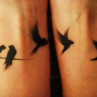 Uh huh / Fuck Yeah, Tattoos! ? My first tattoo. It is one swallow for each and...