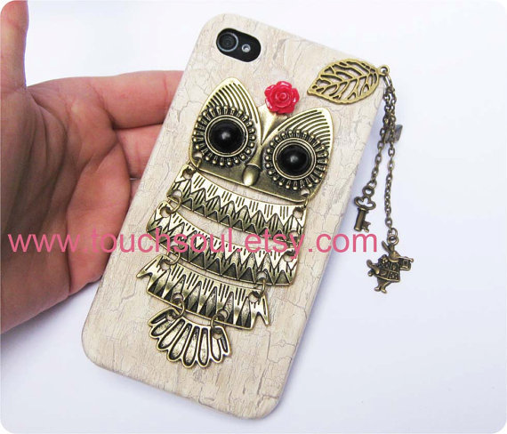 owl,alice rabbit,key,letter,Iphone Case iPhone 4 Case, iphone 4 cover, New Hard Fitted Case For iphone 4 & iphone 4S, Apple iPhone 4 Case