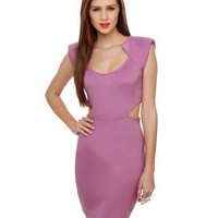 Sexy Lavender Dress - Purple Dress - Cutout Dress - $40.00