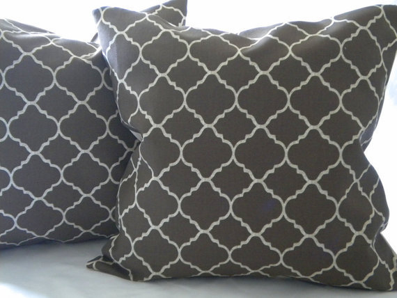 Pillow Cover Brown  Moroccan Print  indoor/outdoor 20 x 20