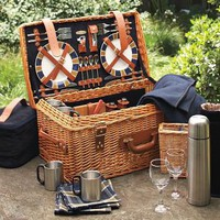Inspiration for Striped Picnic Shoot / Wicker Picnic Basket | Williams-Sonoma