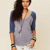 Free People We The Free Long Sleeve Cotton Candy Burnout Top