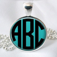 Monogram Necklace Glass (314)
