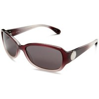 Marc by Marc Jacobs Women`s MMJ 022/S Rectangular Sunglasses,Darkplumshaded Frame/Dark Gray Lens,one size