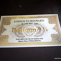 Harry Potter Hogwarts Express Train Ticket Replica Prop